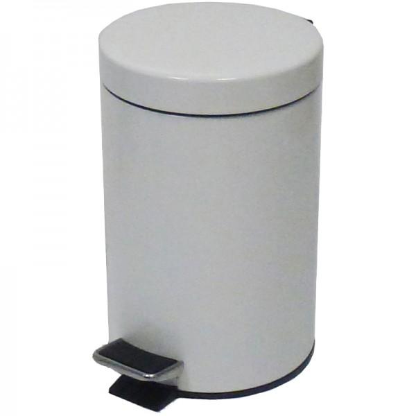 Poubelle 5 litres à pédale - extérieur métal -