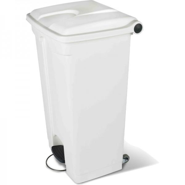 Conteneur poubelle 90 litres à pédale à 2 roues