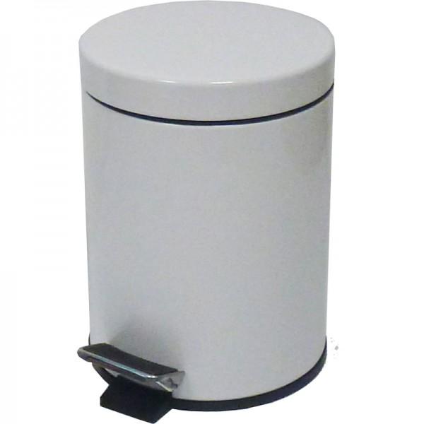 Poubelle 20 litres à pédale - extérieur métal -