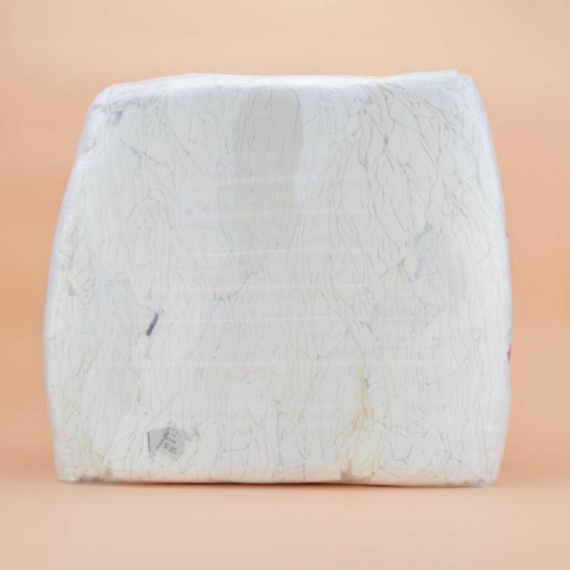 Chiffon jersey tee-shirt blanc 100% coton en sac de 1kg