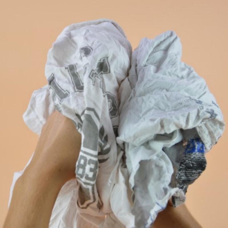 Chiffon tee shirt blanc 100 % coton avec logos couleur