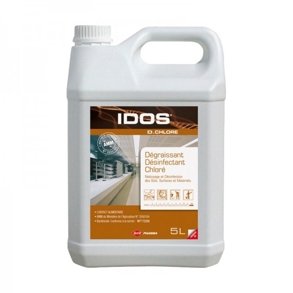 Nettoyant dégraissant et désinfectant chloré - bidon de 5 L