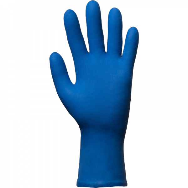Gant latex non poudré MEDIUM - bleu marine - usage court