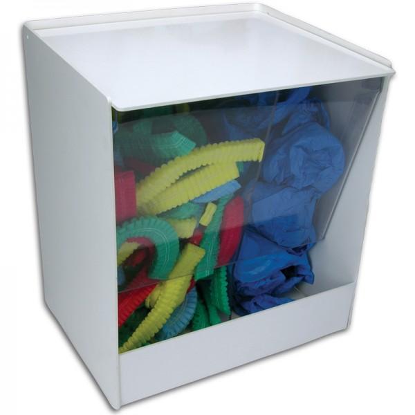 Distributeur de charlottes et de surchaussures en PVC blanc