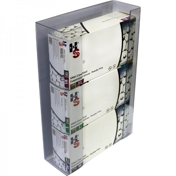 Support mural de stockage pour 3 boites de gants jetables - Carton de 2 unités