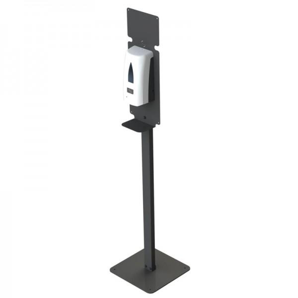 Distributeur de gel hydroalcoolique automatique sur pied - noir - 1 L