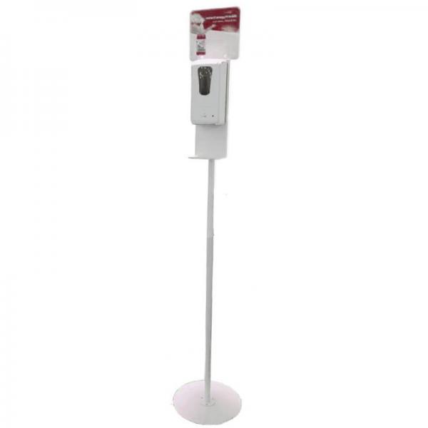 Distributeur de gel hydroalcoolique sur pied automatique - blanc - 1 L